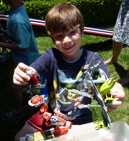 boy with bionicles