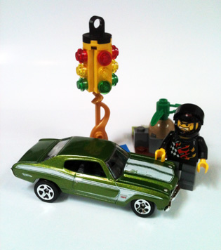 Hot Wheels 70 Chevelle SS and LEGO car racer